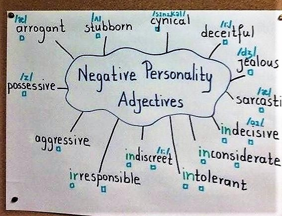 3. negative personality adjectives
